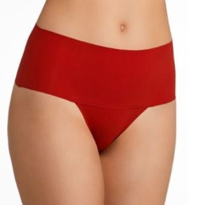 SPANX Undie-tectable Thong Rouge Red XS NWT